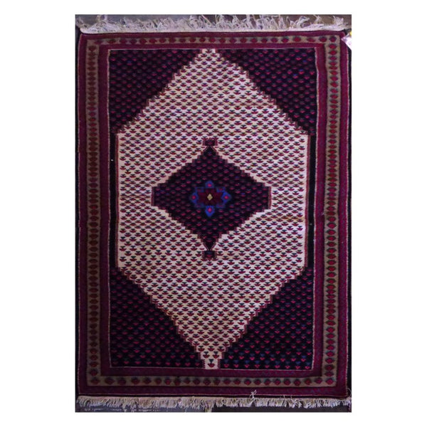PERSIAN SANANDAJ  HAND-KNOTTED KILIM MADE WITH NATURAL WOOL AND COTTON 5'3'' X 3'5''  ABC1