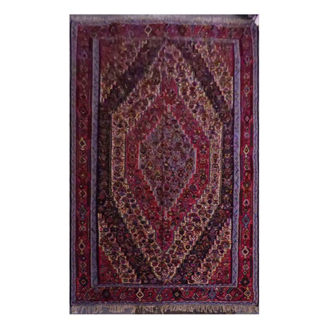PERSIAN SANANDAJ  HAND-KNOTTED KILIM MADE WITH NATURAL WOOL AND COTTON 9'10'' X 6'2''  ABC97
