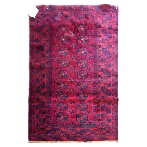 PAKISTANI  HAND-KNOTTED RUG MADE WITH NATURAL WOOL AND COTTON 3'6'' X 5'10''  ABC4537