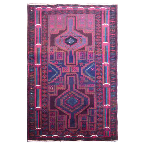PAKISTANI  HAND-KNOTTED RUG MADE WITH NATURAL WOOL AND COTTON 147 X 86 cm ABC262