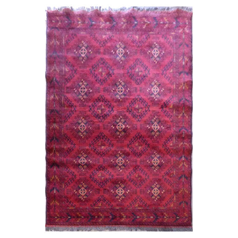 HAND-KNOTTED RUG MADE WITH NATURAL WOOL AND COTTON 6'4'' X 4'2''  ABC5034