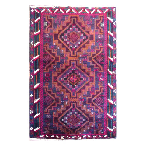 HAND-KNOTTED RUG MADE WITH NATURAL WOOL AND COTTON 5'5'' X 3'1'' ABC0