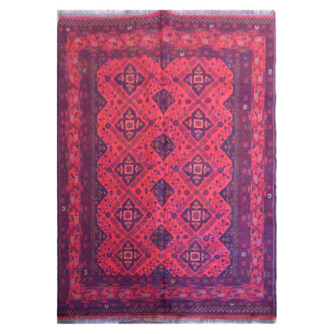 HAND-KNOTTED RUG MADE WITH NATURAL WOOL AND COTTON 43958 X 44017  ABC670