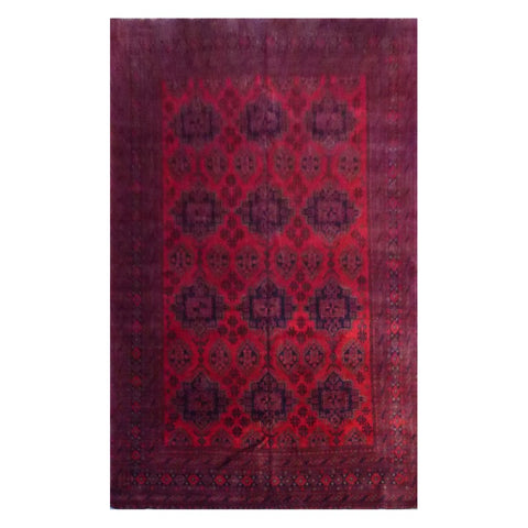AFGHANI KABUL  HAND-KNOTTED RUG MADE WITH NATURAL WOOL AND COTTON 8'10'' X 11'0''  ABC827