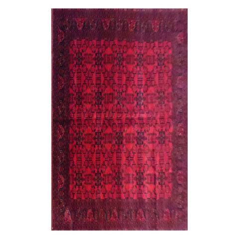 AFGHANI KABUL  HAND-KNOTTED RUG MADE WITH NATURAL WOOL AND COTTON 9'8'' X 6'8''  ABC4137