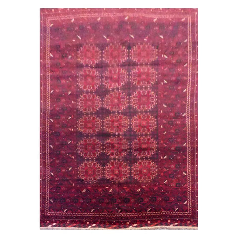 AFGHANI  HAND-KNOTTED RUG MADE WITH NATURAL WOOL AND COTTON 6'5'' X 10'3''  ABC1265032