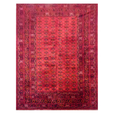 AFGHANI  HAND-KNOTTED RUG MADE WITH NATURAL WOOL AND COTTON 11'11'' X 10'10''  ABC166459