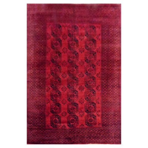 AFGHANI  HAND-KNOTTED RUG MADE WITH NATURAL WOOL AND COTTON 10'9'' X 14'4''  ABC2389097