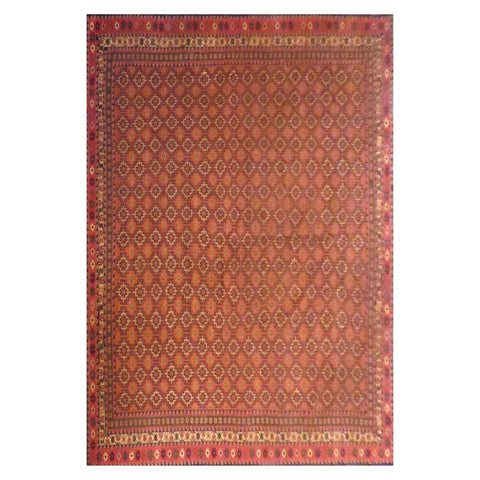 AFGHANI  HAND-KNOTTED RUG MADE WITH NATURAL WOOL AND COTTON 15'5'' X 10'8''  ABC1239