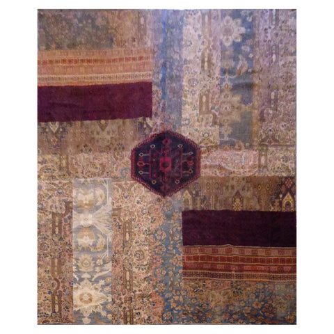 AFGHANI  HAND-KNOTTED RUG MADE WITH NATURAL WOOL AND COTTON 8'9'' X 12'  ABC20724