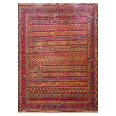 AFGHANI  HAND-KNOTTED RUG MADE WITH NATURAL WOOL AND COTTON 6'4'' X 6'8''  ABCN217