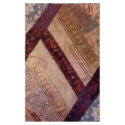 AFGHANI KABUL  HAND-KNOTTED RUG MADE WITH NATURAL WOOL AND COTTON 8'2'' X 5'3''  ABC4299