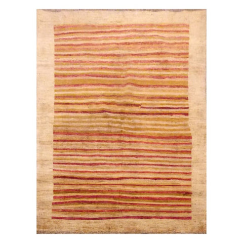 AFGHANI  HAND-KNOTTED RUG MADE WITH NATURAL WOOL AND COTTON 4'1'' X 5'3''  ABCMP2227
