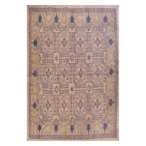 AFGHANI KABUL  HAND-KNOTTED RUG MADE WITH NATURAL WOOL AND COTTON 6'4'' X 5'5''  ABC4128