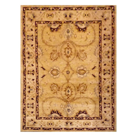 AFGHANI  HAND-KNOTTED RUG MADE WITH NATURAL WOOL AND COTTON 8' X 4'11''  ABC1609