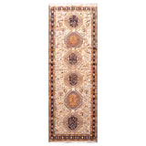 PERSIAN MOGHAN  HAND-KNOTTED KILIM MADE WITH NATURAL WOOL AND COTTON 3'3'' X 9'11''  ABC311