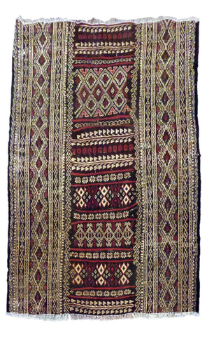 IRANIAN  HAND-KNOTTED KILIMS MADE WITH NATURAL WOOL & COTTON COLOR MULTI 143 X 110cm ABC1884