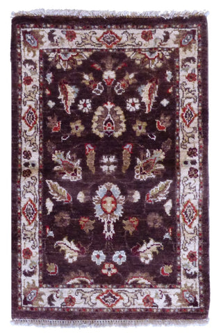 "PAKISTANI TRANSITIONAL HAND-KNOTTED RUG MADE WITH NATURAL WOOL & COTTON COLOR ANTIQUE WASH 2'`0"" X 2'0"" ABC1795"