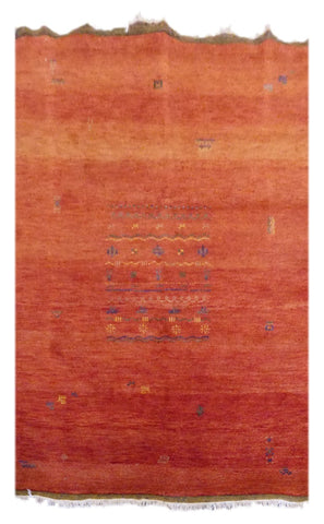 "INDIAN TRADITIONAL HAND-KNOTTED RUG MADE WITH NATURAL WOOL & COTTON COLOR MULTI 6'9"" X 4'8"" ABC2955"