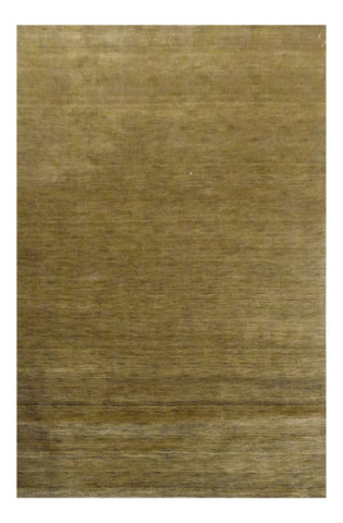INDIAN TRANSITIONAL HAND-KNOTTED RUG MADE WITH NATURAL WOOL & COTTON COLOR BLUE 8' X 5' ABC1063