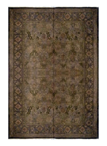 "TURKISH TRANSITIONAL HAND-KNOTTED RUG MADE WITH NATURAL WOOL & COTTON COLOR MULTI 9'9"" X 7'9"" ABC 751"