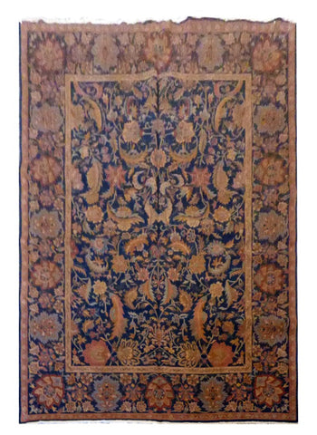 "TURKISH TRANSITIONAL HAND-KNOTTED RUG MADE WITH NATURAL WOOL & COTTON COLOR MULTI 9'9"" X 7'9"" ABC 723"