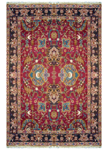 "TURKISH TRANSITIONAL HAND-KNOTTED RUG MADE WITH NATURAL WOOL & COTTON COLOR BROWN 11'9"" X 8'9"" ABC 715"