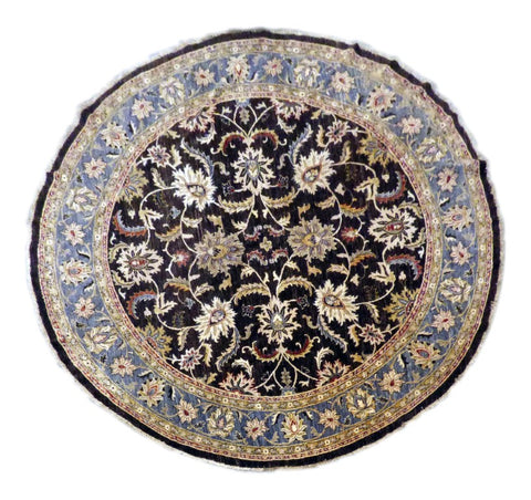 PAKISTANI TRADITIONAL HAND-KNOTTED RUG MADE WITH NATURAL WOOL & COTTON COLOR MULTI 10' X 10' ABC 2970