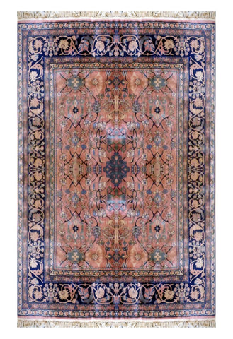 Turkish Hand-Knotted 100% Natural Wool Rug 8'7'' X 7'3'' ABC0