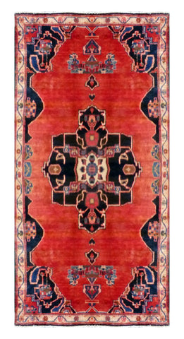"PERSIAN SAVEH HAND-KNOTTED RUG MADE WITH NATURAL WOOL AND COTTON 8'3'' X 3'9"" ABC2395"