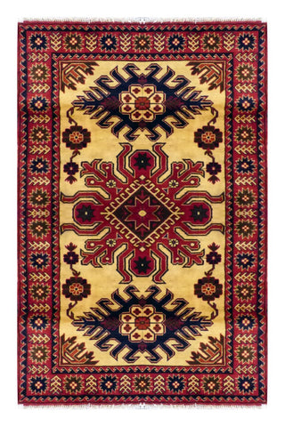 PAKISTANI PESHAWAR HAND-KNOTTED RUG MADE WITH NATURAL WOOL & COTTON  5'10'' X 3'10'' ABC04516