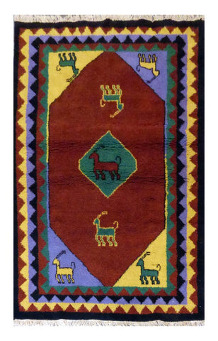 Nepali Modern Hand-Knotted 100% Natural Wool Rug 4'6'' X 6'5'' ABC2975