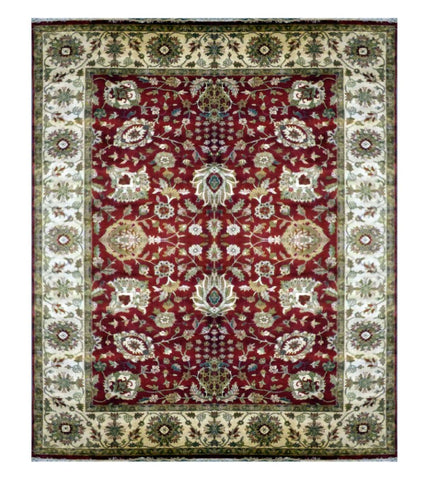 Turkish Ghazni Hand-Knotted 100% Natural Wool Rug 9' X 12' ABCR7995
