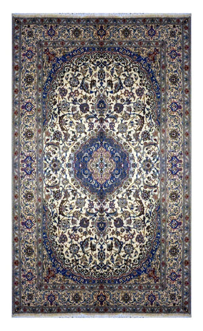 "PERSIAN NAIN HAND-KNOTTED RUG MADE WITH NATURAL WOOL & SILK 11'6"" X 8'0"" ABC2793"