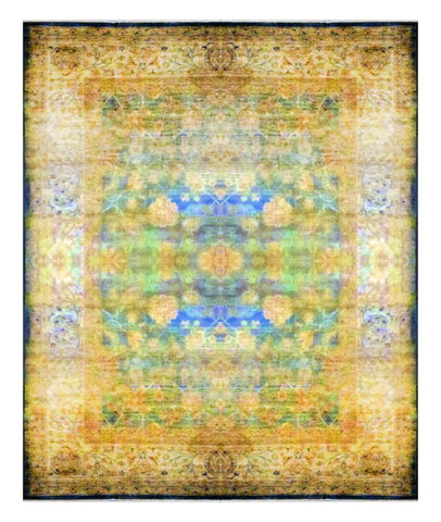 Afghani Modern Hand-Knotted 100% Natural Wool Rug from Khotan 14'0'' X 10'0'' ABC 1