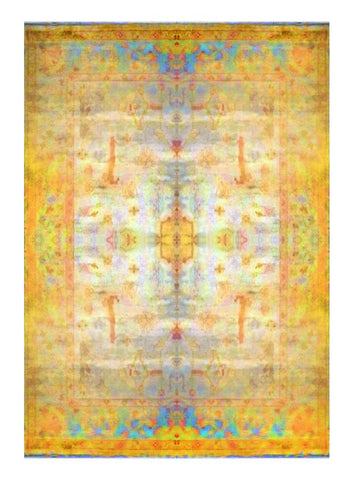 Turkish Hand-Knotted 100% Natural Wool Oushak Rug 12'2'' X 8'11'' ABC6011