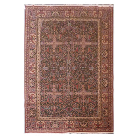 Turkish Hand-Knotted 100% Natural Wool and Cotton Rug from Ankara 8'8'' X 12'0'' ABCR00731