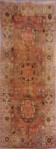 Turkish Antique Hand-Knotted 100% Natural Wool Rug 4'10'' X 10'8'' ABCR021412