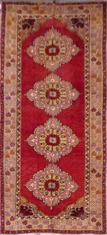 Turkish Hand-Knotted 100% Natural Wool Rug 11'0'' X 5'0'' ABCR21406