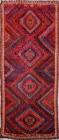Turkish Hand-Knotted 100% Natural Wool Antique Rug 12'6'' X 5'3'' ABCR91490