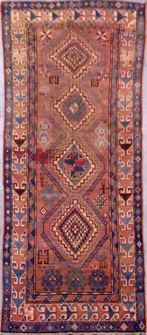 Authentic Cavasion  Hand-Knotted Natural Wool Rug with Kazak Design  10'0'' X 4'4'' ABCR0021320