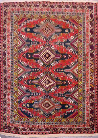 Turkish Hand-Knotted 100% Natural Wool Antique Rug 8'7'' X 6'2'' ABCR8333
