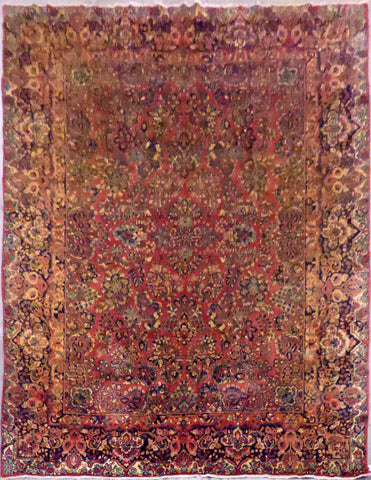 Persian Sarough Hand-Knotted Natural Wool Rug from Iran 11'9'' X 9'2'' ABCR3136