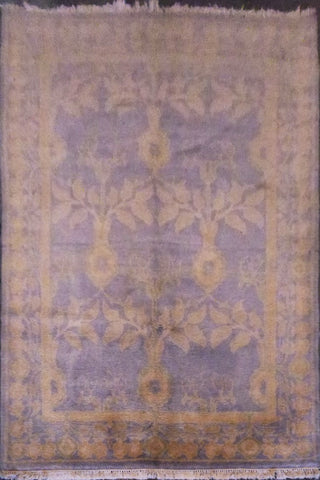 "TURKISH OUSHAK HAND-KNOTTED RUG MADE WITH NATURAL WOOL & COTTON 9'0'' X 6'0"" ABC0020376"