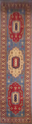AFGHANI KAZAK HAND-KNOTTED RUG MADE WITH NATURAL WOOL AND COTTON 19'6'' X 5'2''  ABC166941