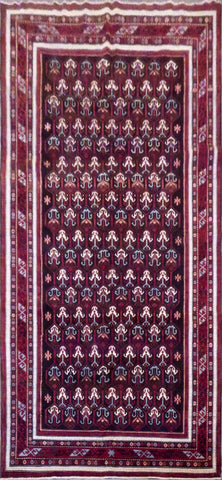 AFGHANI SUMAK HAND-KNOTTED RUG MADE WITH NATURAL WOOL AND COTTON 11'0'' X 5'10''  ABC0020018