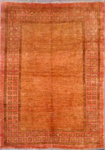 AFGHANI GABEH HAND-KNOTTED RUG MADE WITH NATURAL WOOL AND COTTON 6'6'' X 9'4''  ABC0020060