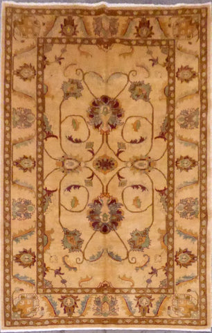 AFGHANI OUSHAK HAND-KNOTTED RUG MADE WITH NATURAL WOOL AND COTTON 6'0'' X 9'4''  ABC0020057