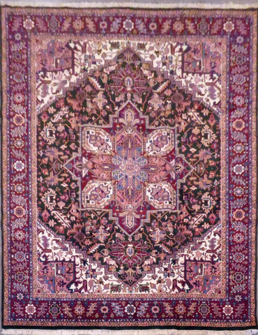 PAKISTANI HAND-KNOTTED RUG MADE WITH NATURAL WOOL AND COTTON 8'8'' X 11'4''  ABC1668