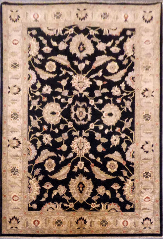 AFGHANI OUSHAK HAND-KNOTTED RUG MADE WITH NATURAL WOOL AND COTTON 6'01'' X 8'9''  ABC00200338